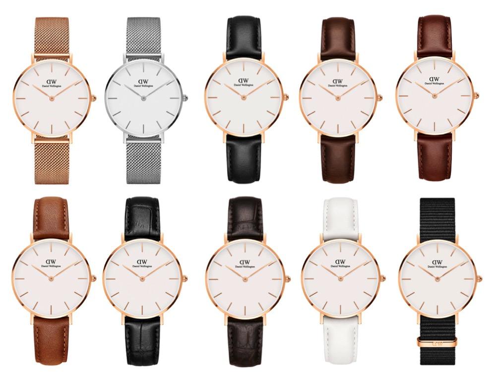 ダニエル・ウェリントン腕時計の種類