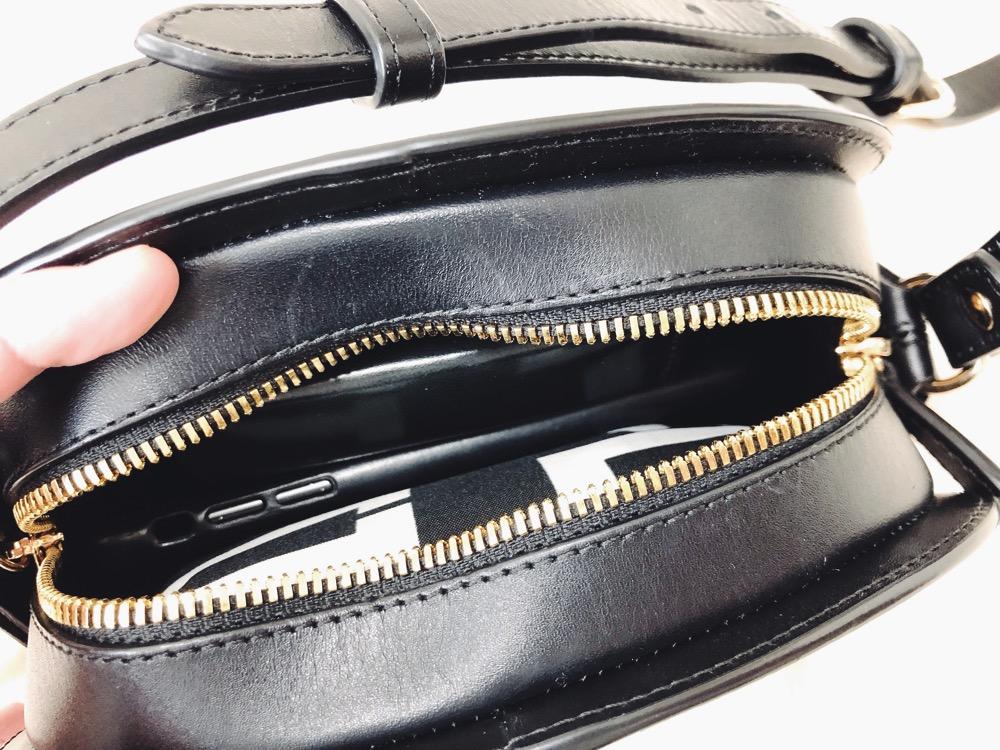 ミニハーフムーンバッグに大きめエコバッグを入れると