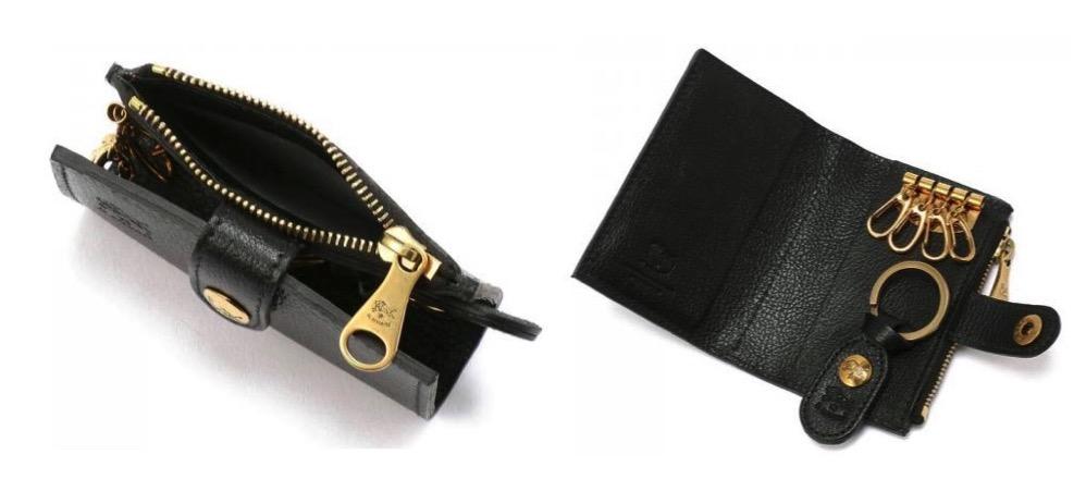 IL BISONTE(イルビゾンテ):カードケース付き4連キーケース